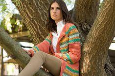 Encontrá este y otros patrones en nuestra tienda on-line www.bisachefa.com Crochet Jacket, Blazer, Coat, Jackets, Vests, Cardigans, Style, Link, Fashion