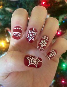 """Christmas sweater"" Nail art"