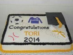 Buttercream graduation themed cake.