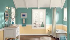 7 Best Bathroom Paint Colors You Need to Try: Summer Dragonfly | Behr