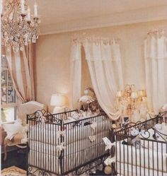 over the top nursery rooms | this over the top luxurious nursery is fitted with ornate