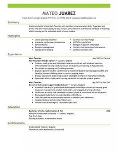 find this pin and more on resume example sample templates for teacher - Teacher Resumes Templates Free