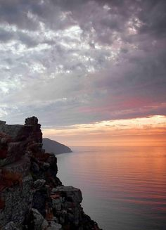 The sun sets on Exmoor's North Devon coast - not far from Valley of the Rocks. Photo by Dave Rowlatt