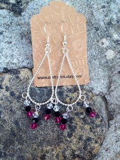 Chandelier Earrings with Swarovski Crystals on Etsy, $10.00