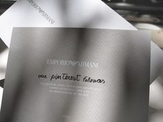 dear Pinterest followers, we invite you to    WATCH THE EMPORIO ARMANI MEN SPRING/SUMMER 2013 SHOW LIVE on www.armani.com    MONDAY 25th AT 9.30 am GTM+1