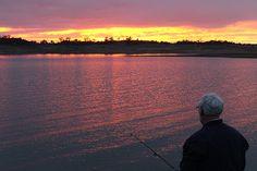 Fishing at dawn on Lake Eucumbene