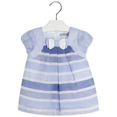 Striped Devoré Dress Blues