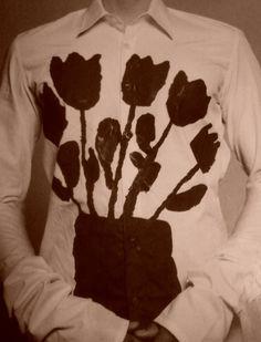 I need to paint a shirt like this (Fine Little Day) Diy Fashion, Vintage Fashion, Textiles, Motif Floral, Art Plastique, Mode Inspiration, Textile Design, Wearable Art, Print Patterns