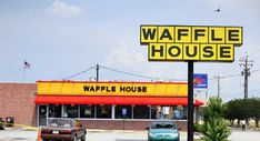Waffle House index is green? Waffle House index is red? It needs emergency help, says FEMA head Craig Fugate. Breakfast Places Near Me, Go Usa, Waffle House, Vintage Restaurant, Shopping Near Me, World Cup 2014, Food Places, Pancakes And Waffles, Home Signs