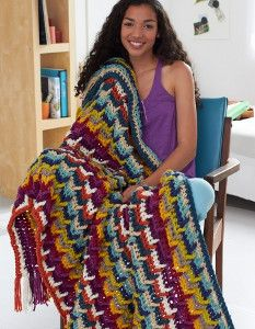 I have to make the Hooked on Color Afghan before fall! It's such a unique free crochet afghan pattern.