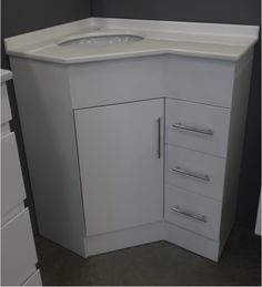 Wonder If This Would Work In The Upstairs Bathroom Corner Vanity For