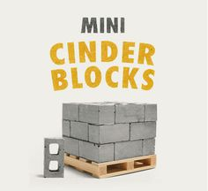 Check out Mini Materials' collection of Miniature Cinder Blocks! We have multiple sizes... 1:6 scale, 1:12 scale, and 1:24 scale. We also have a bunch of new concrete products! Check out the website... www.minimaterials.com :)