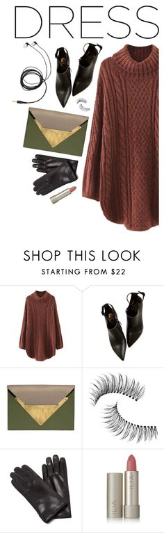 """""""Party On: Long Sleeve Dresses #3"""" by anaiara ❤ liked on Polyvore featuring WithChic, Dareen Hakim, Trish McEvoy, Maison Fabre and Ilia"""