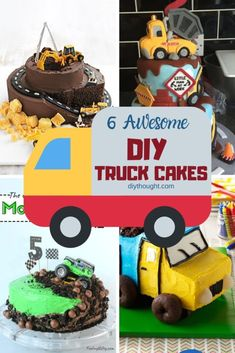 Dump Truck Cakes, Truck Birthday Cakes, 3rd Birthday, Birthday Parties, Cool Diy, Diy Party Needs, Oreo Dirt Cake, Happy Family, Themed Cakes