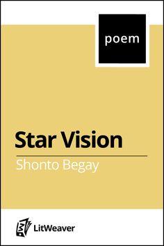 Star Vision by Shonto Begay #ShontoBegay #Poem #MiddleSchool
