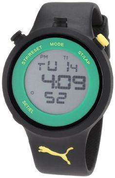 PUMA Mens PU910901007 Stainless Steel Sport Watch with Black Polyurethane Band ** More info could be found at the image url.