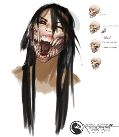 This is a digital concept art of Mileena from Mortal Kombat X