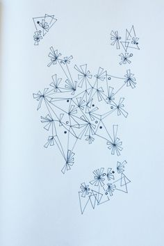 Random drawing / visual explorations of shapes, arrangements and spatial aggregations