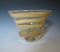 Hand blown glass bowl #blackFriday Please stop by my store for gift giving. use coupon code GOBUCKS2012 at check out.