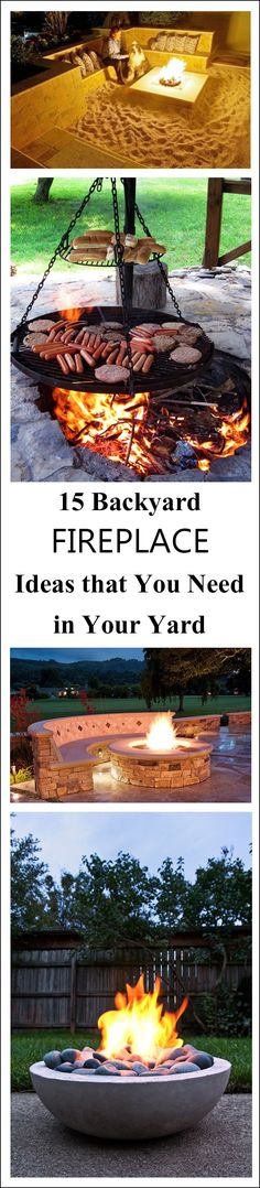 15 Backyard Fireplace Ideas that You Need in Your Yard-A blanket, a mug, and a flickering flame………. Is there anything more magical than cozying up with someone special enjoying the glimmering glow of a fire? The only thing . Diy Outdoor Fireplace, Backyard Fireplace, Backyard Patio, Backyard Landscaping, Fireplace Ideas, Firepit Deck, Beach Fireplace, Cozy Patio, Fireplace Design