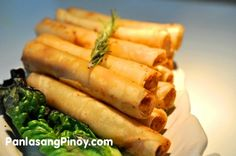 This Chicken Spring Roll recipe is another spring roll variation using ground chicken. Compared to the other spring rolls that we featured, this version has lesser cholesterol content.    Chicken Spring rolls is prepared and cooked the same way as you do your average spring roll. It is important that the wrap is sealed properly so that it will not