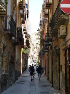 Cagliari, Marina. Cerdeña, Italia.