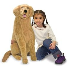 Melissa & Doug Golden Retriever Giant Dog Stuffed Animal (there was a whole display of M dogs in the store, Sophia was afraid to pet this one from the cart) Giant Plush, Big Plush, Giant Stuffed Animals, Giant Dogs, Pet Vet, Pet Dogs, Dogs Golden Retriever, Retriever Dog, Golden Retrievers