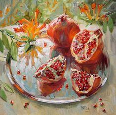 Pomegranate Paintings by Maria Pavlova-AmO Images-AmO Images