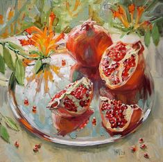 Pomegranate Paintings by Maria Pavlova - AmO Images - AmO Images