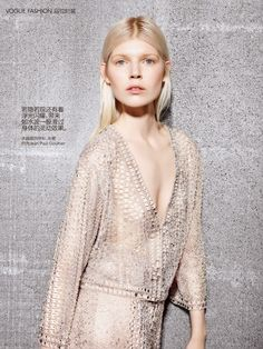 """Duchess Dior: """"Gleaming Star"""" Ola Rudnicka by Richard Burbridge for Vogue China Collections April 2015"""