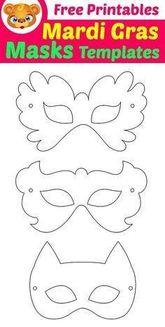 Mardi Gras Masks Templates with Free Printables. Best Picture For diy carnival… Mardi Gras Masks Templates with Free Printables. Mardi Gras Mask Template, Superhero Mask Template, Masquerade Mask Template, Masquerade Masks, Mardi Gras Masks, Masquerade Party, Free Activities For Kids, Free Preschool, Preschool Learning