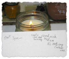 Testing of Medium and Large  wooden wicks in soy wax 8 oz square mason jar.