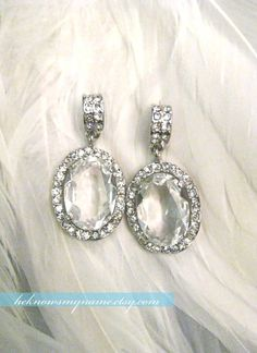 Neo Mirror Earrings (Free U.S. Shipping) - valentine, bridal chandelier earrings, rhinestone, crystal, oscar jewerly -$39.00