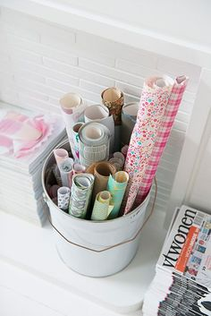 I want this bin full of paper and gift wrap