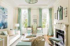 transitional living room by Leslie Fine Interiors