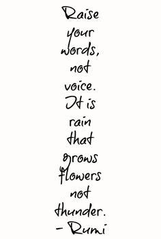 Rumi quote I love for parenting.