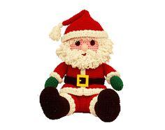 "7277 Crochet Pattern 16"" Amigurumi Soft Body Santa"