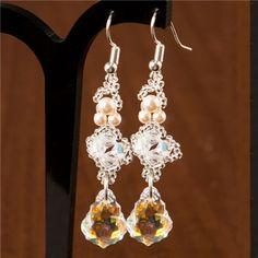 Buy Kleshna Swarovski Princess Catherine Earrings from CreateAndCraft.tv