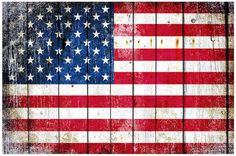 This beautiful print depicts a Distressed American Flag on Old Barn Wood Print Horizontal  The print is unframed and is shipped rolled in a