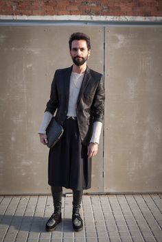 Dude. You are owning that skirt. On the streets in Barcelonas Poblenou area. Photo by Matti Hillig