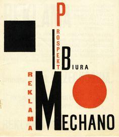 HENRYK BERLEWI Reklama Mechano, 1924, Polska, ugrupowanie BLOK, konstruktywizm