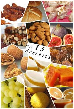 Les 13 desserts de Noël. Provence