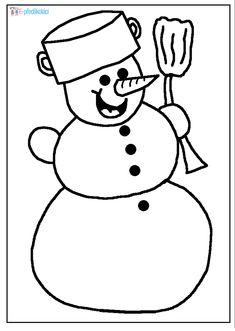 Sněhulák - omalovánka