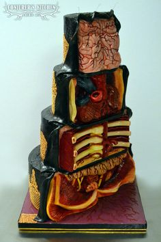 Anatomical cake shows the guts inside the tiers - Boing Boing