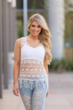 Ivory In My Dreams Crochet Top – Boutique Amore