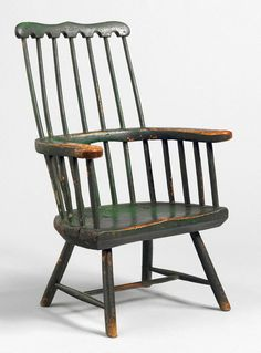 Imposing Comb Back Windsor Armchair (Sold by Robert Young Antiques) Old Chairs, Antique Chairs, Antique Furniture, Painted Furniture, Outdoor Chairs, Outdoor Furniture, Outdoor Decor, Robert Young, Provincial Furniture