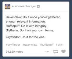 HUFFLEPUFF!!!! And wow Gryffindor xD