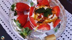 Fresas con yogur y miel