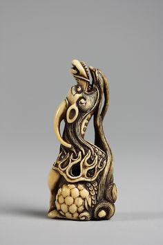 Kirin (Mythical Chimera) Period: Edo period (1615–1868) Date: 18th century Culture: Japan Medium: Ivory Classification: Netsuke