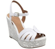 367f87ae504 Clarks Artisan Floral Print Wedge Sandals - Amelia Page
